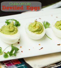 #Paleo #Recipe / Guacamole Deviled Eggs | The Man With The Golden Tongs Goes All Out On Health | Scoop.it