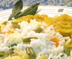 Arroz de Legumes com Galantine de Soja