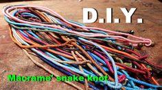 How to make a macrame snake knot Step#5