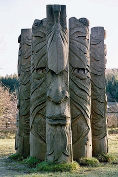 Hamsterley Forest, The Green Man Sculpture.