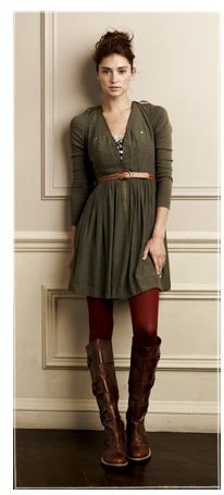 Cute fall outfit except I'd wear short boots.