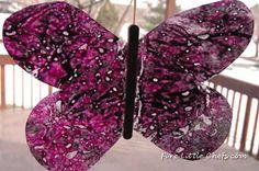 Butterfly crayon art