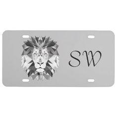 Monogram License Plates Irish Skeleton Clown Monogram License Plate Medical Insignia Caduceus License Plate Geometric Lion Head Monogram License Plate Monogram Comedy Tragedy Theater Masks License …