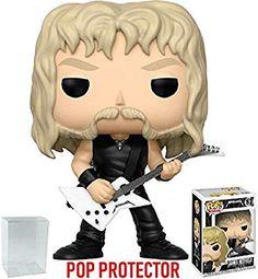cddc581f7ec Amazon.com  Funko Pop! Rocks  Metallica - James Hetfield  57 Vinyl Figure  (Bundled with Pop Box Protector Case)  Toys   Games