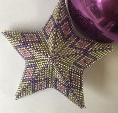 Star - Christmas Decoration by JoBarclayLoggie on Etsy Beaded Christmas Decorations, Beaded Ornaments, Star Patterns, Beading Patterns, Christmas Presents For Teachers, 3d Star, Beading Techniques, Star Ornament, Jewelry Making Tutorials
