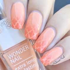 ✨Perfect peach gradient manicure by @naturenail  Ophelia is using our Moroccan Nail Stencils found at: snailvinyls.com