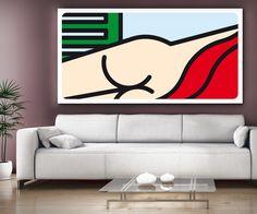 'Nudo sdraiato con persiana e lenzuolo rosso' Computer art Unlimited/2007