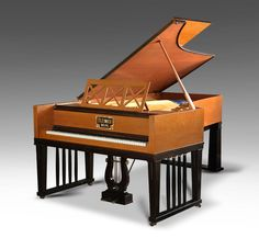 Bluthner Art Case Grand Piano with casework in the Jugendstil manner by Gabriel von Seidl