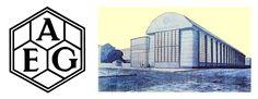 Logo AEG a budova AEG
