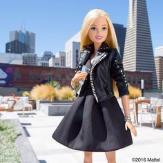 Views on views! Excited for a night filled with art & music at @thebatterysf!  #barbie #barbiestyle