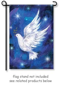 Large size Christmas Dove flag on blue backdrop, starry night. x with glitter trim; Christma decor for church or home; Christmas Dove, Large Flag by Sarah Summers Dove House, Spiritual Paintings, Chalk Design, Glitter Pictures, Prophetic Art, Paint And Sip, White Doves, House Flags, Christmas Art