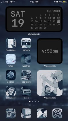 Phone Organization, Homescreen, T 4, Screens, Iphone Wallpaper, Layouts, Notes, Messages, Anime