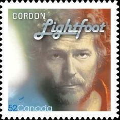Canada - Gordon Lightfoot Gordon Lightfoot perforation x Canadian stamp from Canadian Recording Artists sets I Am Canadian, Canadian History, Canadian Artists, Gordon Lightfoot, O Canada, Canada Post, Thinking Day, Stamp Collecting, My Music