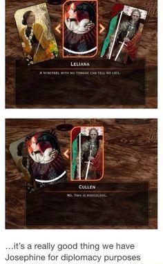 Dragon age: inquisition- Josephine is indispensable Dragon Age Origins, Dragon Age Inquisition, Dragon Ball Z, Dragon Age 2, Cullen Dragon Age, Dragon Age Memes, Dragon Age Funny, Artemis Fowl, Grey Warden