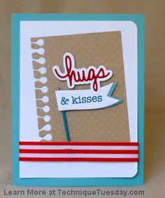 Say it - Hugs Hugs & Kisses Card
