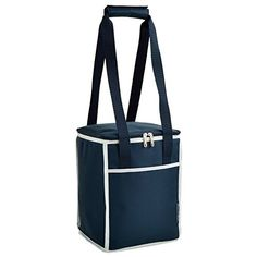 Picnic at Ascot Square Cooler Tote, Blue. For product info go to:  https://all4hiking.com/products/picnic-at-ascot-square-cooler-tote-blue/
