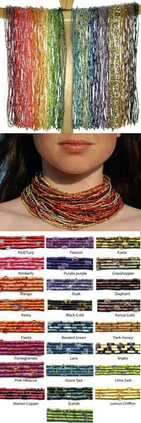 Love the Zulugrass strands, you can wear them as a necklace or a fun and colorful bracelet!