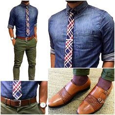 "Today's fit || plaid your denim Bringin you more of that ""smart casual"" office…"