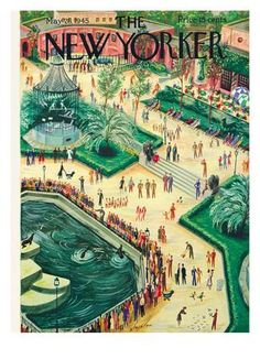 The New Yorker Cover - May 26, 1945 Giclee Print by Constantin Alajalov at Art.co.uk