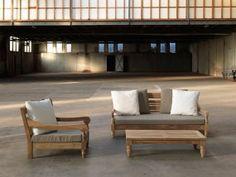Fresh KAWAN XL Lounge Gartenset Sitzgruppe teilig Hochwertige Gartenm bel aus Teakholz recycled Teakliebe in sanftem