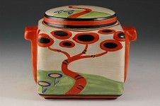 Andrew Muir | Clarice Cliff, Art Deco Pottery, Red Tree Stamford Box 1930