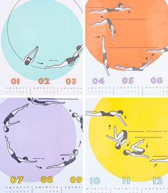 synchronized swimming calendar by maemae paperie