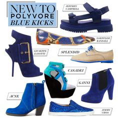"""New to Polyvore: Blue Kicks to Punch Up the Week"" by polyvore-editorial on Polyvore"