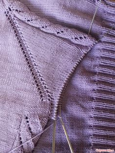 My lilac pool with openwork sleeves knitting, begin to knit, who join me Sweater Fashion, Cardigans For Women, Baby Knitting, Knitwear, Knitting Patterns, Knit Crochet, Sewing, Sweaters, Handmade