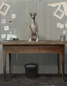 huariqueje: Dog on table - Pieter Pander , 2013 Dutch,...