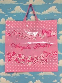 Brand Plastic Shopping Bag from Angelic Pretty (Big) - Lolita Desu