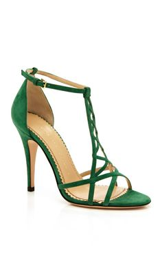 Leaf Gren Marianne by Charlotte Olympia Now Available on Moda Operandi