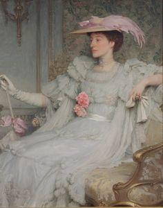 """Frank Dicksee, Lady Hillingdon 1904 """