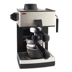 Mr. Coffee ECM160-NP 4-Cup Steam Espresso Machine, Black #MrCoffee
