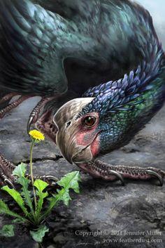 Oviraptor with dandelion...