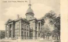 a historical look at out nation's county courthouses through postcards Old Town, Milwaukee, Wisconsin, Taj Mahal, Cathedral, Old Things, Victorian Homes, History, Places