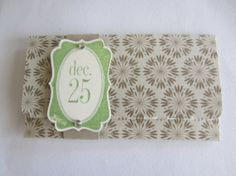 Christmas Gift Card Holder Floral December 25 by HawaiiPaperParty, $3.65