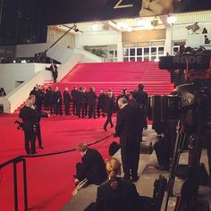 Pin for Later: What's the Cannes Film Festival Really Like? Our Instagram Diary From the French Riviera  Photographers, all dressed in black-tie attire, lined the steps of the theater just minutes before the cast of The Rover arrived for their premiere.