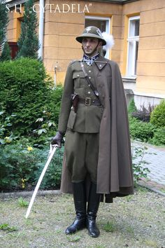 1933 Polish Army podhale rifles officers' uniform, pin by Paolo Marzioli