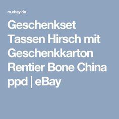 Geschenkset Tassen Hirsch mit Geschenkkarton Rentier Bone China ppd | eBay