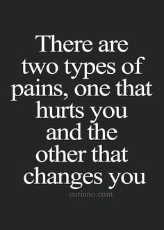 The PAINFUL change is for the better!!