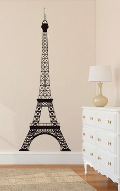 Wall Decal Vinyl Sticker Decals Art Decor Paris Pattern Girls bedroom Romance Mural France The Eiffel Tower City World Modern Fashion( r670)