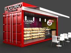 Mobile Container Café for El Globo by MAVERICK STUDIO, via Behance