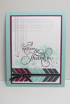 """Credit to Jackie Bolhuis, SU demonstrator on FB, for this """"grunge"""" inspired masculine thank you card"""