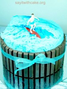 kit kat surfer cake