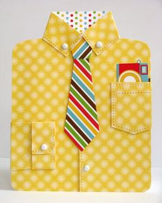 DRESS SHIRT CARD by Mendi Yoshikawa - Scrapbook.com - Doodlebug Design