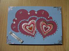 Gebastelte Valentinskarte