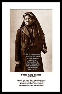 First black nurse of the civil war and such a hero.  Susie King Taylor by Julian Maydun.