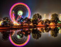 amusement park | Amusement Park at Night 1024 - Painting You With Words