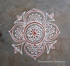 Indian Rangoli, Kolam Rangoli, Simple Rangoli, Beautiful Rangoli Designs, Kolam Designs, Kolam Dots, Traditional Rangoli, Padi Kolam, Latest Rangoli