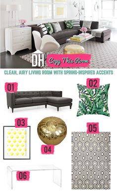 Love this living room? Copy its look >> http://blog.hgtv.com/design/2015/05/11/copy-this-room-add-a-touch-of-spring-to-your-living-space/?soc=pinterest